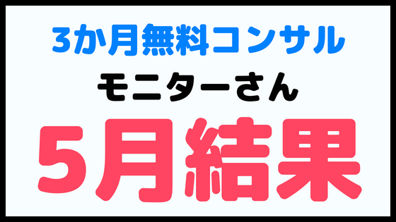 モニターさん企画【5月の結果】