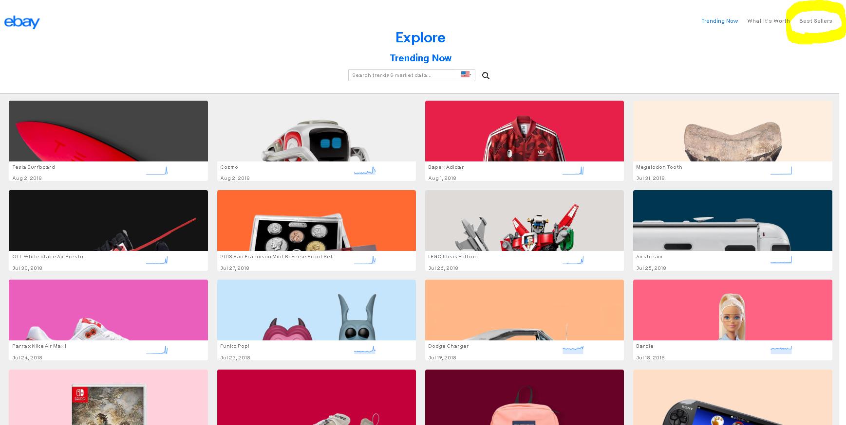 【ebayでの売れ筋商品がわかる】Explore ebayの使い方