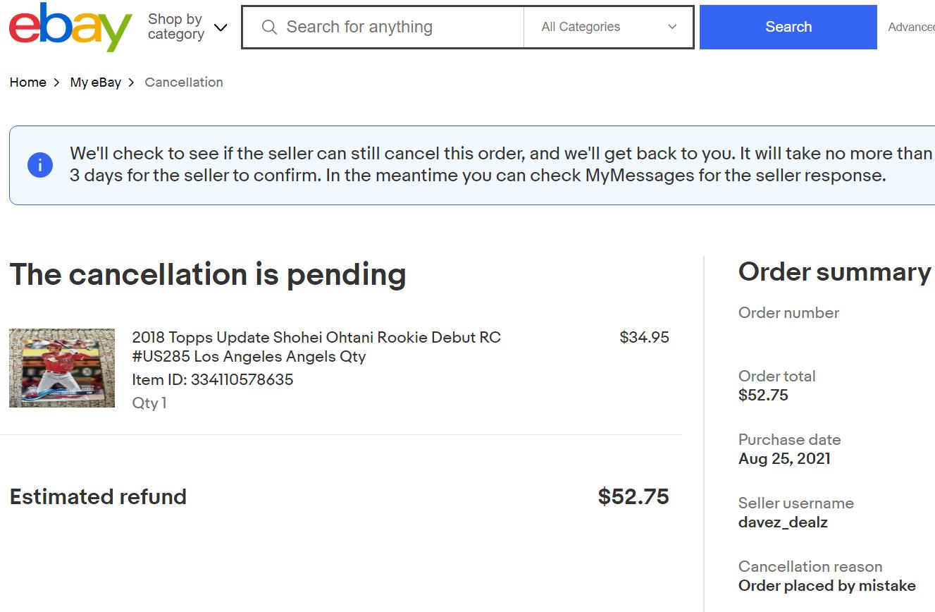 ebay輸出の買い物客はどのようにキャンセルをするのか?